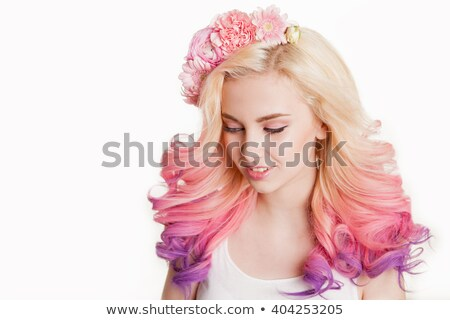 pretty in pink with couture hair style Stock photo © carlodapino