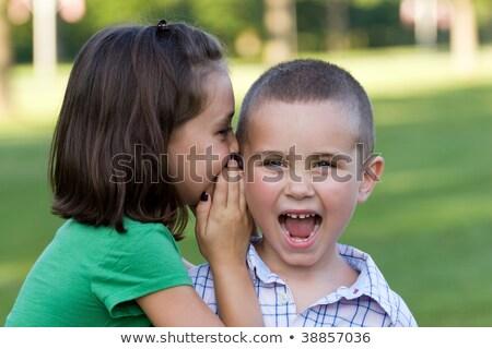 女の子 秘密 弟 家族 少女 幸せ ストックフォト © wavebreak_media