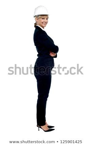 Female business architect posing sideways Stock photo © stockyimages