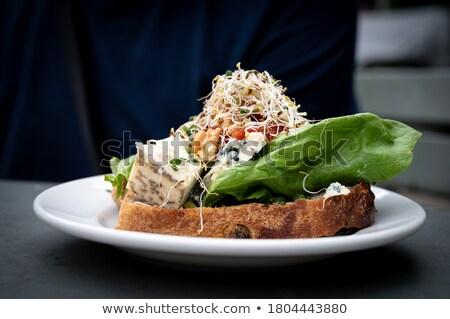 jam and lettuce sandwhich Stock photo © Antonio-S