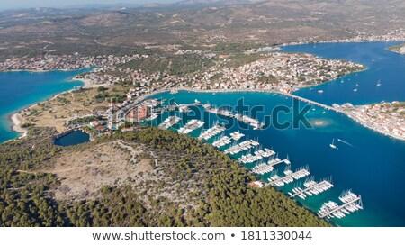 groep · haven · sport · landschap · zee · zomer - stockfoto © ivonnewierink