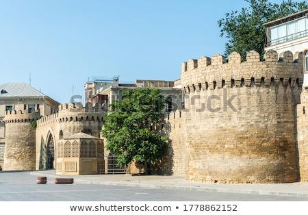 Bastion of the old town of Baku stock photo © jakatics
