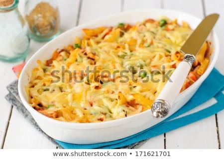 pasta gratin with broccoli and tomato Stock photo © M-studio