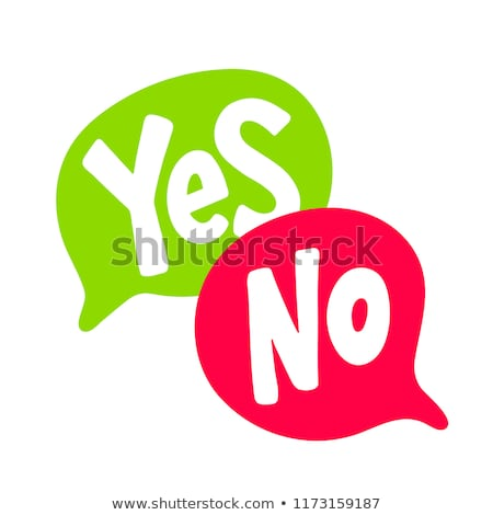 Voting Yes Or No Stock photo © Lightsource