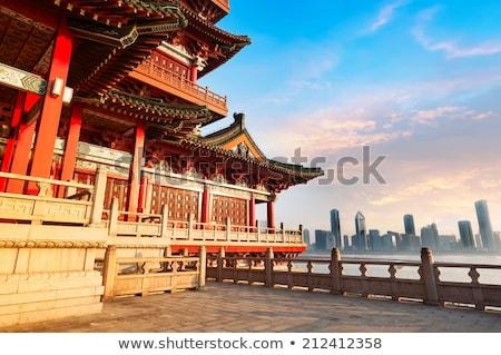 Gugong Forbidden City Palace Dragon Pavilion Beijing China Stock photo © billperry