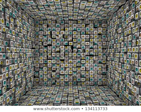 3d sound - system mosaic grunge square tiled empty space Stock photo © Melvin07