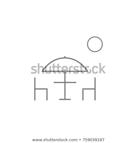 Vector icon parasol and chair Stock photo © zzve