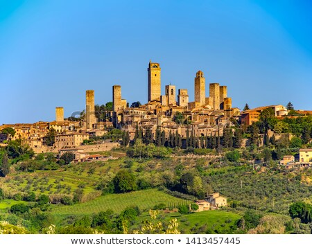 san gimignano tower stock photo © bertl123