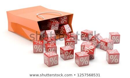 shopping bag percent cubes stock photo © limbi007