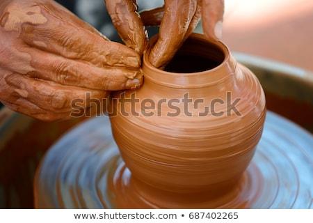 vazo · üst · sanatçı · çanak · çömlek · biçim · yaratıcılık - stok fotoğraf © obscura99