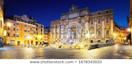 trevi fountain overview rome italy stock photo © billperry