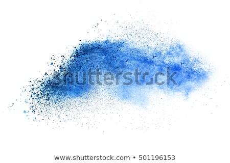fehér · kék · festék · folt · grunge · sötét - stock fotó © mikemcd