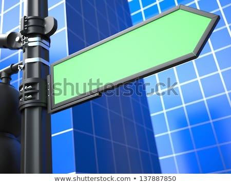 Ok mavi yeşil harita sokak imzalamak Stok fotoğraf © tashatuvango