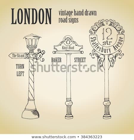 london retro street signpost stock photo © snapshot