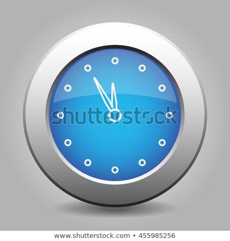 銀 · メタリック · 目覚まし時計 · 実例 · クロック · 広場 - ストックフォト © rioillustrator