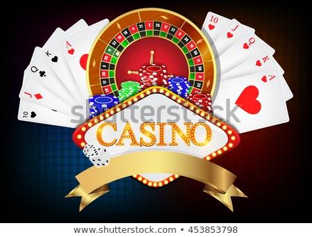 Casino rueda de la ruleta cinta eps 10 diseno Foto stock © articular