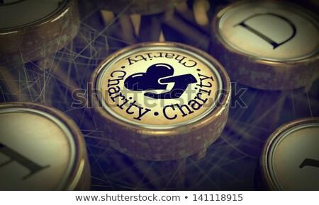vermek · hayır · düğme · mor · kelime · para - stok fotoğraf © tashatuvango