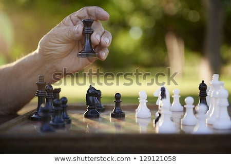 chess pieces on a table in the park stock photo © inxti