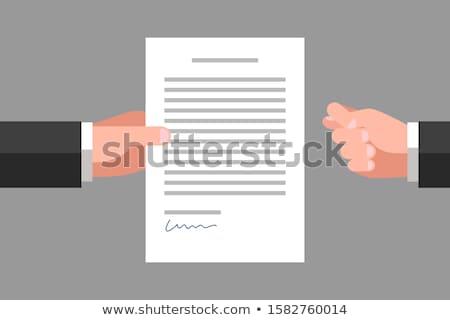 üzletember kéz obszcén felirat tapéta arc Stock fotó © lunamarina
