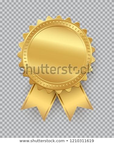 ödül şerit spor başarı beyaz sarı Stok fotoğraf © almir1968