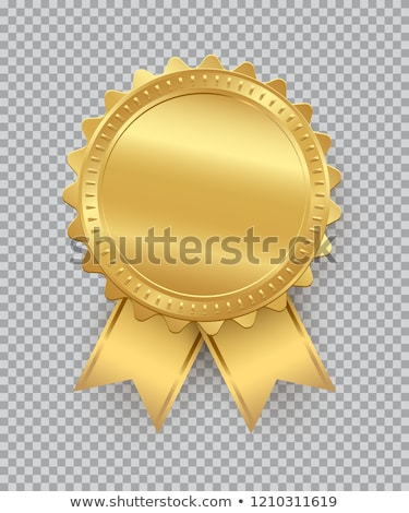 Prêmio fita esportes sucesso branco amarelo Foto stock © almir1968