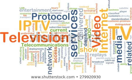 IPTV. The Wordcloud Concept. Stock photo © tashatuvango