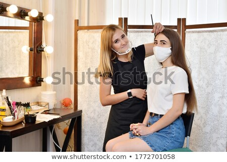 Stock photo: Shapely young brunette in old interior