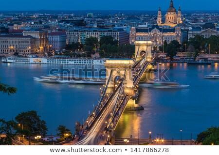 Navio de cruzeiro danúbio rio costa Budapeste Hungria Foto stock © pixachi