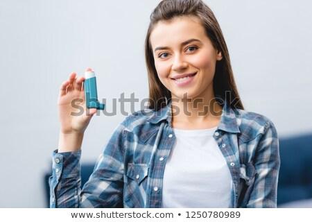 астма женщину девушки фон Сток-фото © evgenyatamanenko