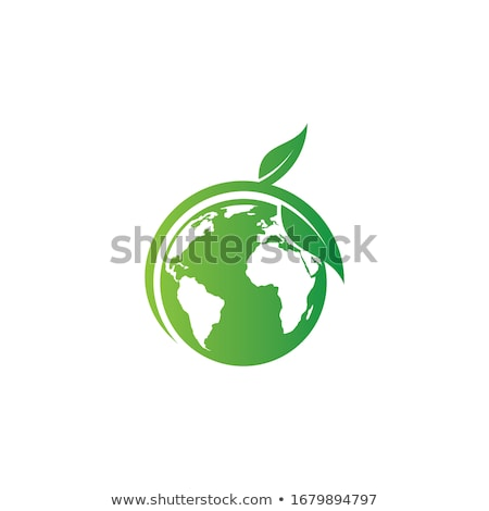 Stock photo: Earth And Leaf - Environment Symbol