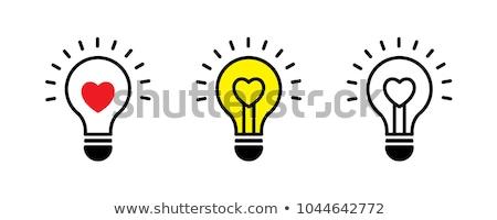 Ampul kalp beyaz sevmek lamba enerji Stok fotoğraf © vladodelic
