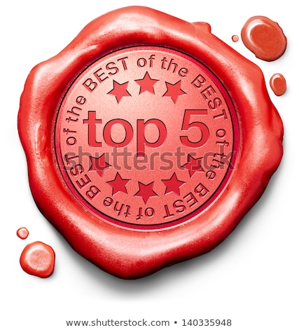 Top 5 in Charts - Stamp on Red Wax Seal. Stock photo © tashatuvango
