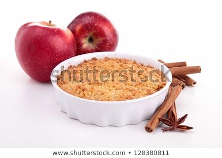 Biały pudding jabłko christmas posiłek kiełbasa Zdjęcia stock © M-studio
