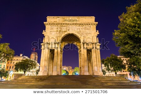 arc of triumph in Piazza Della Vittoria - Genova Stock photo © Antonio-S