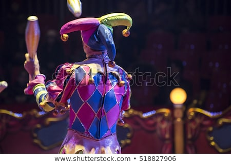 The clown in the circus juggling Stock photo © cherezoff