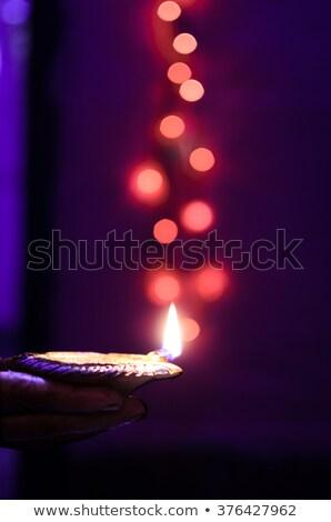 Diwali festival azul colorido feliz Foto stock © bharat