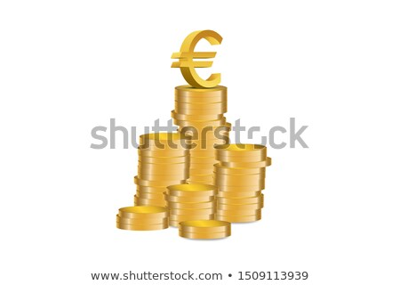 Business people on top of euro coin piles. Money making concept Stock photo © Kirill_M