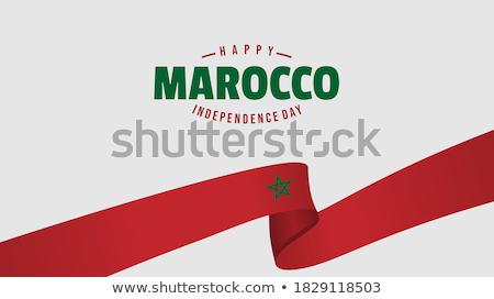 Moroccan flag Stock photo © Hofmeester
