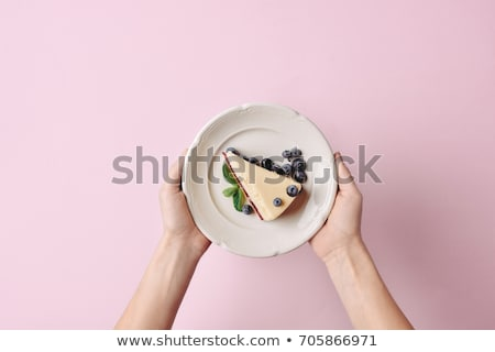 Stock photo: Hand holding plate