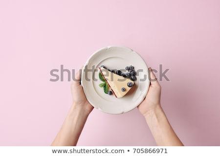 Hand plaat vrouwelijke groot witte Stockfoto © Taigi