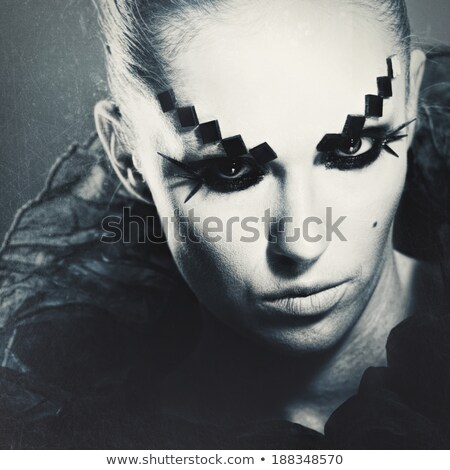 Horror Movie. Grungy female portrait for your design Stock photo © tolokonov