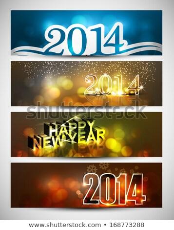 Capodanno 2014 luminoso colorato quattro Foto d'archivio © bharat