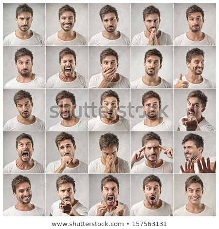 Stock photo: Young man expression portrait