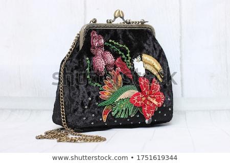 Zwarte fluwelen achtergrond witte luxe materiaal Stockfoto © Sarkao