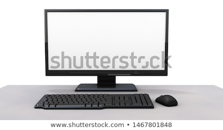 3D Computer with Monitor Keyboard and Mouse stock photo © fenton