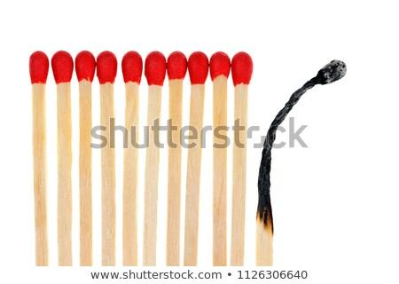 Burning wooden matchsticks Stock photo © maros_b