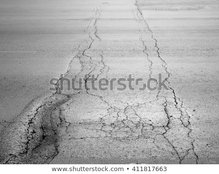 Spleet cement weg achtergrond snelweg industriële Stockfoto © tungphoto
