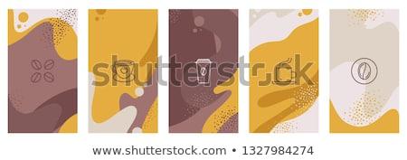 csésze · kávé · gyönyörű · forró · festmény · gőz - stock fotó © adamson
