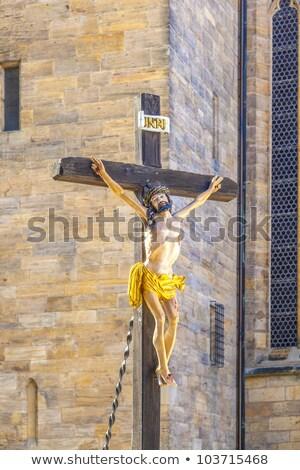 szobor · Jézus · Krisztus · katolikus · templom · kereszt - stock fotó © meinzahn