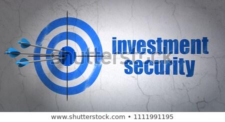 adat · titkosítás · cél · három · nyilak · kék - stock fotó © tashatuvango